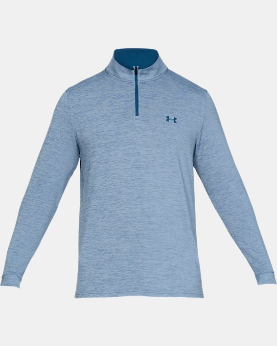 Men's UA Playoff 2.0 ¼ Zip, Blue, pdpMainDesktop image number 4